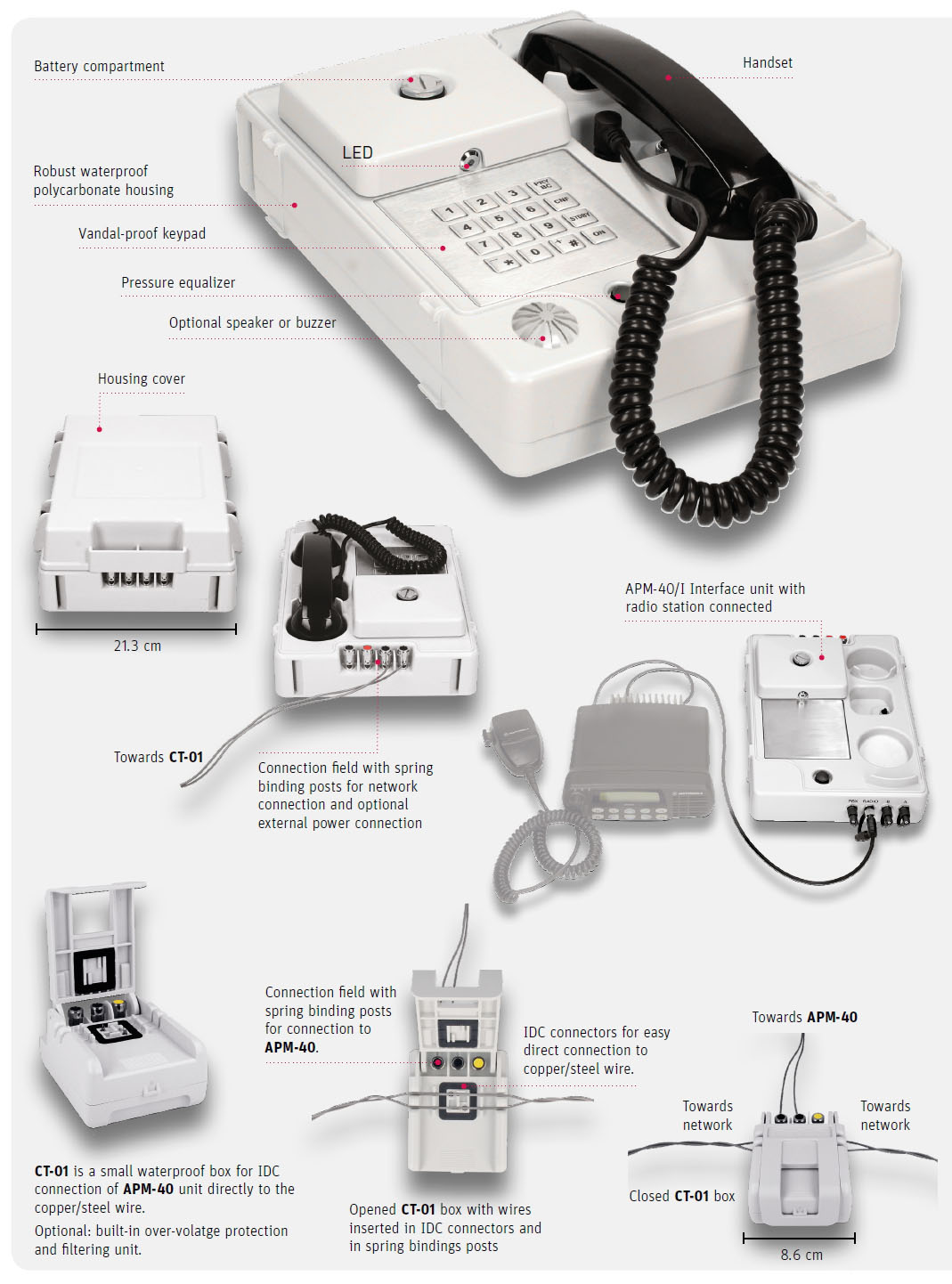 Apm 40 Phone For Emergency Telephone Network Mvmtel How To Wire System Housing